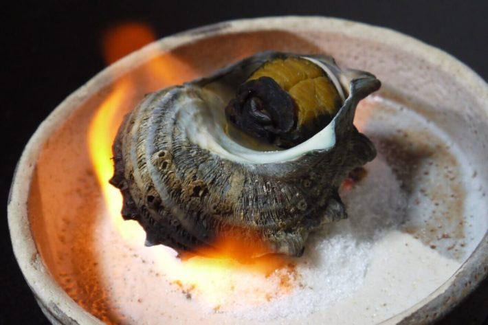 サザエは壺煮でいただきます。